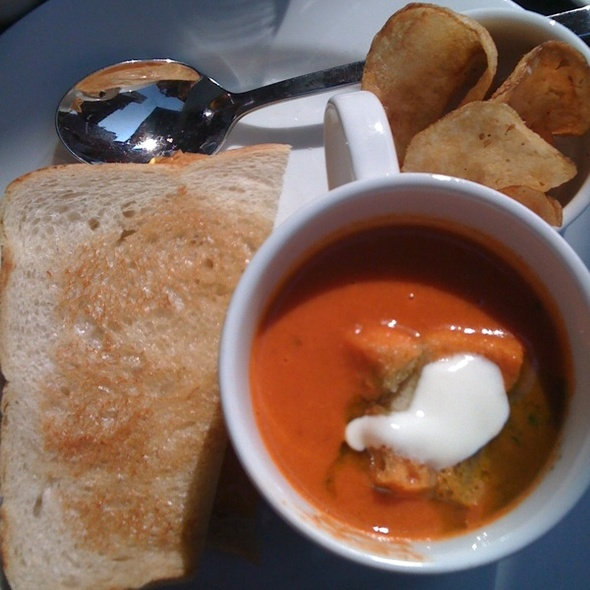 """Tomato Soup & Grilled Cheese Sandwich"""" @ Cafeteria"""