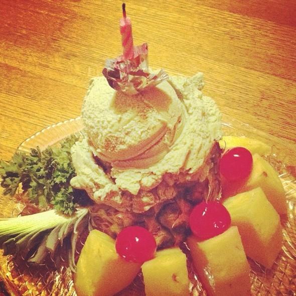Green Tea Ice Cream @ Sagami Japanese Restaurant