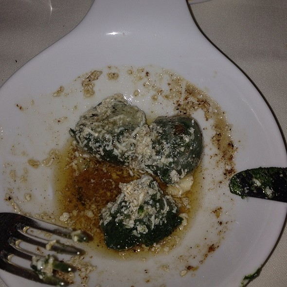 Spinach Gnocchi With Brown Butter @ Vetri Ristorante