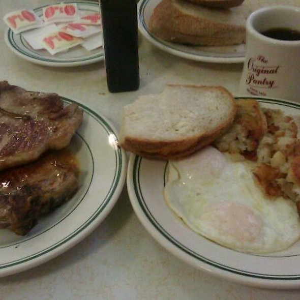 Pork Chops U0026 Eggs At Original Pantry Cafe