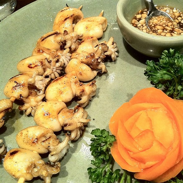 grilled squid on skewer with sweet&sour sauce @ Thai Celadon, Luxembourg