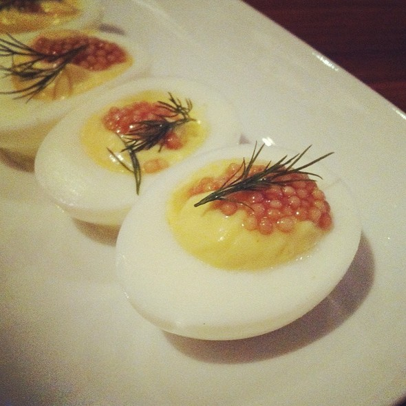 Mustard Seed & Dill Deviled Eggs @ Square Peg