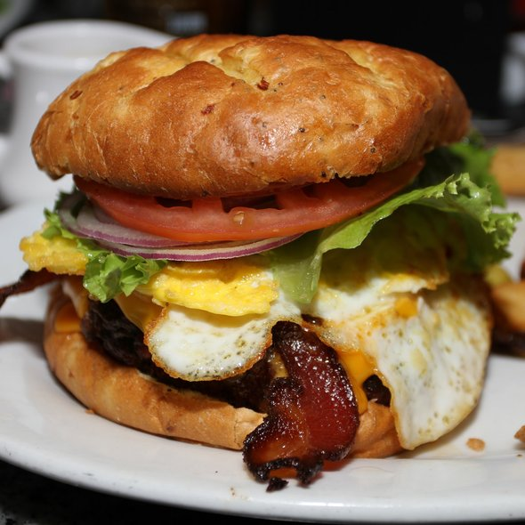 Bacon Cheeseburger with Fried Egg @ Burger Bar
