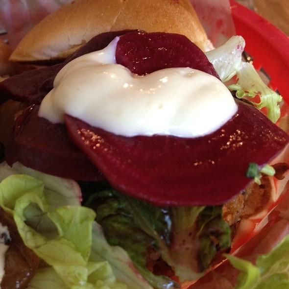 Quinoa Veggie Burger Slider @ FARM BURGER