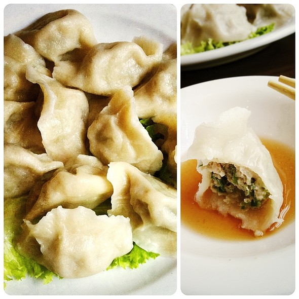 Boiled Pork And Garlic Chives Dumplings @ Big Mouth Luck Dumpling House