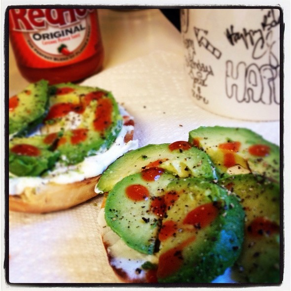 Avacado, Onion Bagel @ Nelson Hq South