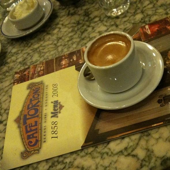 Espresso Macchiato @ Café Tortoni