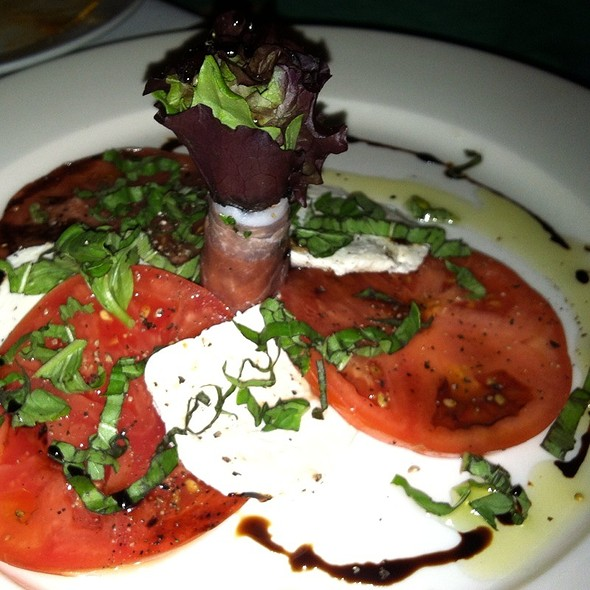 Salad Of Vine Ripe Tomatoes And House Mozzarella With Loads Of Fresh Basil - Geranio, Alexandria, VA