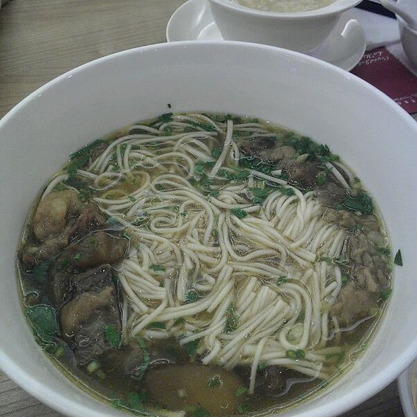 Beef Brisket Noodles With Chilli Oil @ Crystal Jade Restaurant, Virra Mall, Greenhills