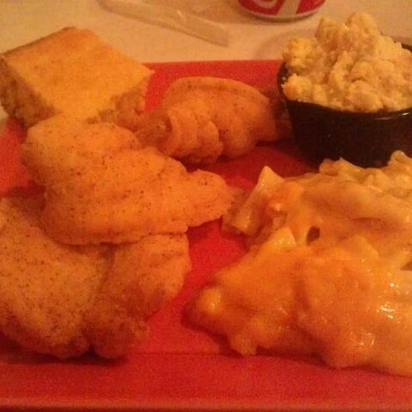 Fried catfish With Macaroni & Chesse  @ Gloria's Place