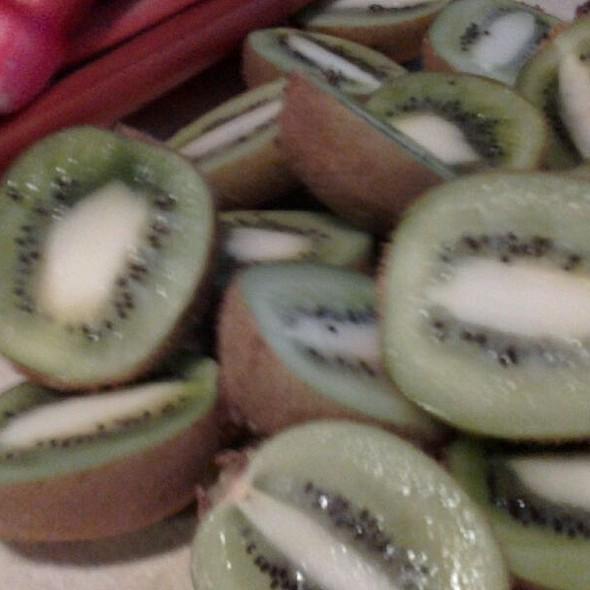 Organic italian kiwis and rhubarb - The Village Cork, Denver, CO