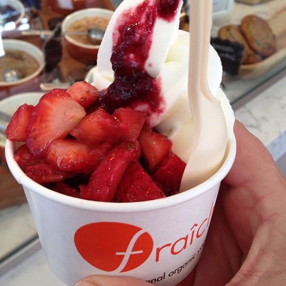 Natural Yogurt With Olalliberry Puree & Strawberries @ Fraiche