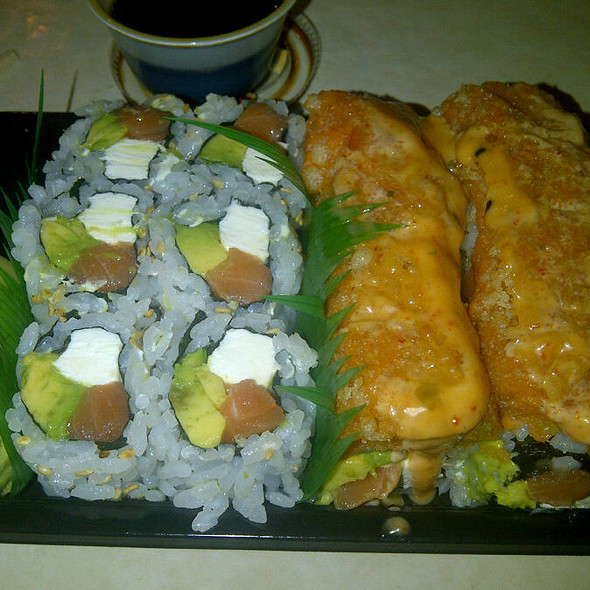 Sushi: Philidalphia And Sweet Potato Roll