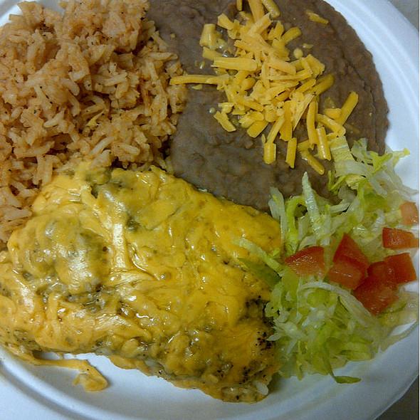 Chicken Enchilada Plate