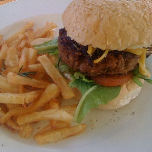 Home Made Gourmet Burger And Chips @ Chez Laurent