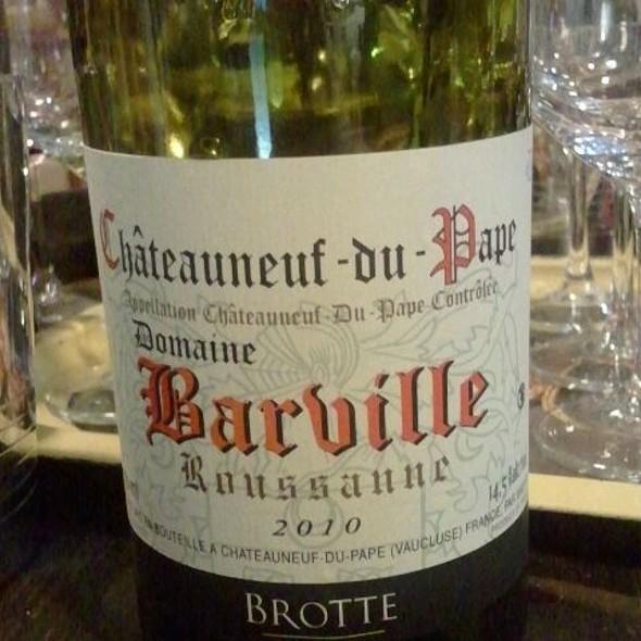 Châteauneuf du pape wine @ Domaine Barville Rousanne BROTTE