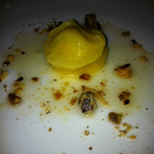 Ravioli With Honey And Candied Walnuts @ Quince Restaurant