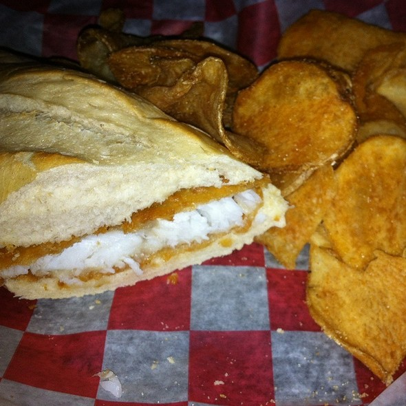 """Award Winning"" Fish Sandwich @ Trailside Pub"