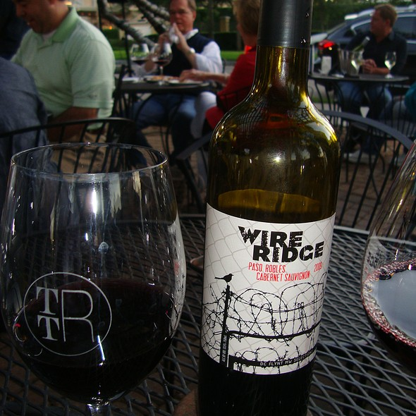 Wire Ridge Cabernet Savignon - 2009 - The Tasting Room - Uptown Park, Houston, TX