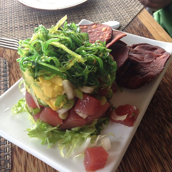 Ahi Poke Tower @ Huggo's on the Rocks
