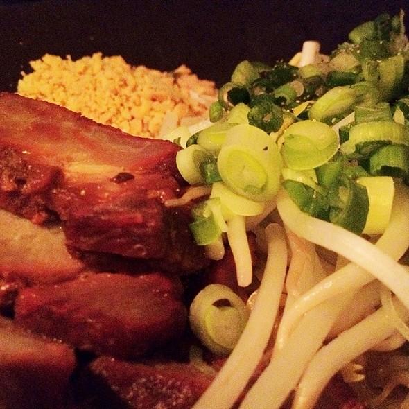 Egg Noodles With Bbq Pork