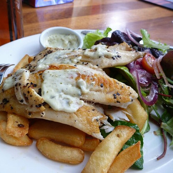 Grilled Fish And Chips @ Cargo Bar / Lounge