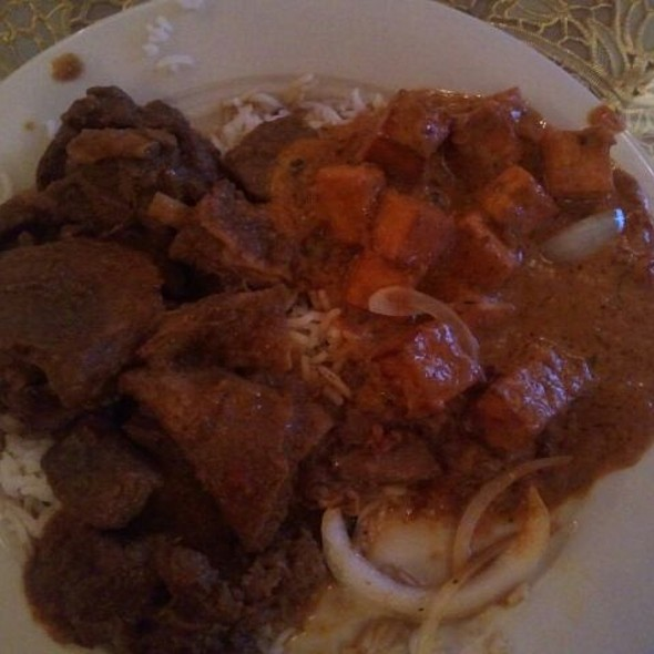 Curried goat and Paneer Masala @ India Sizzling - Indian Restaurant