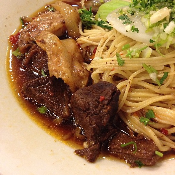 a5 braised beef and beef tendon noodles (dry) deliciously flavorful  photography iechats find #sharefood #chinesecuisine #manila #philippines #instagram #iphoneography #lp #itsmorefuninthephilippines @ Kanzhu Hand-Pulled Noodles