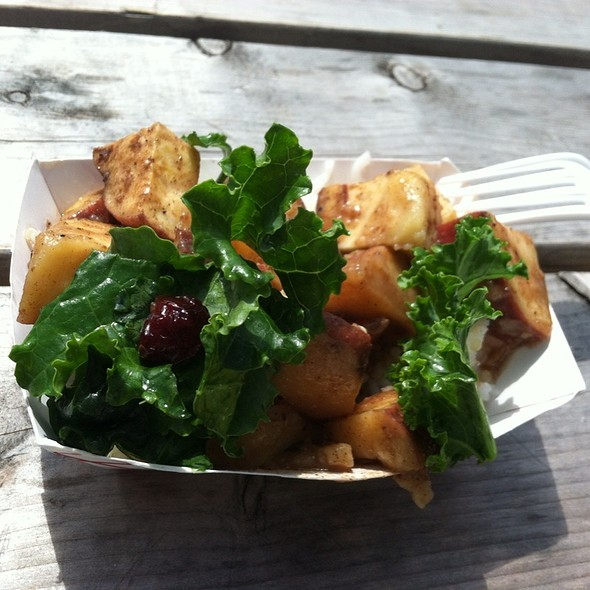 Japanese Yams With Ghee And Kale @ Dekalb Market