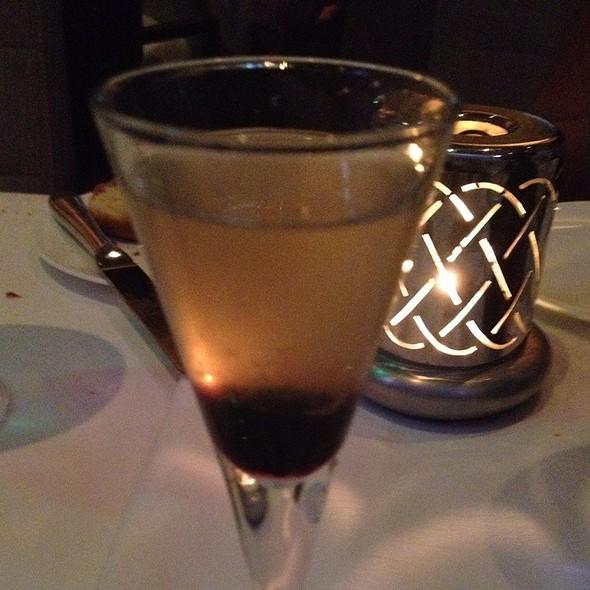 White Whiskey, Kate's Lemon Bitters And Cherries @ L'Espalier