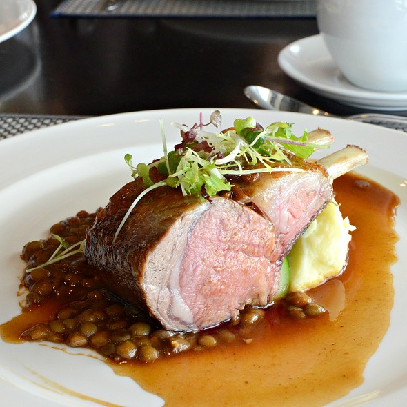 Roasted Lam Rack on Braised Green Lentils  @ ToTT's and Roof Terrace