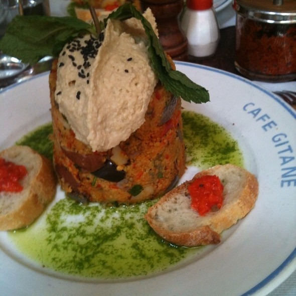 Couscous And Hummus @ Cafe Gitane