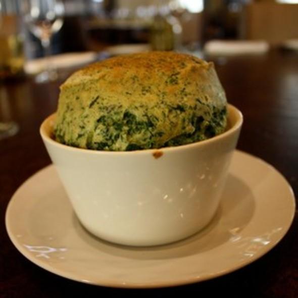Spinach Souffle with Parmesean Cream @ Bourbon Steak