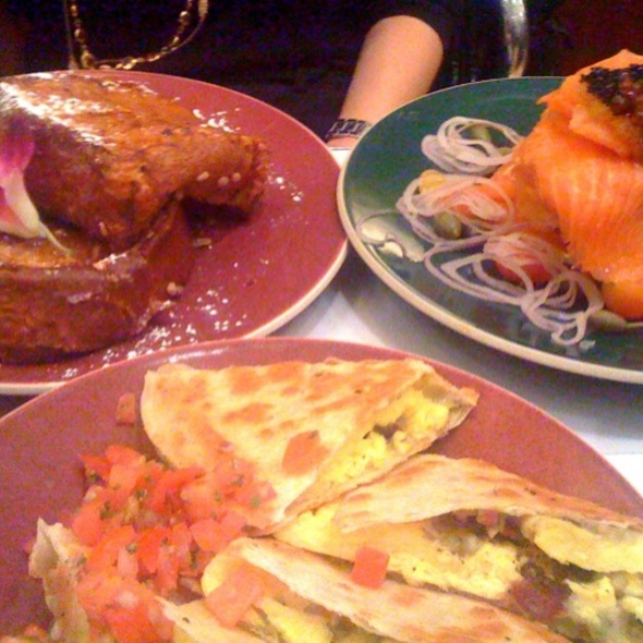 Egg Quesadilla Brioche French Toast Smoked Salmon  @ Norma's at Le Parker Meridien Hotel
