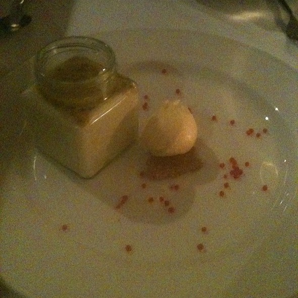 White Chocolate Passion Fruit Rice Pudding Mousse With Passion Fruit Sorbet @ Zuni Cafe & Restaurant