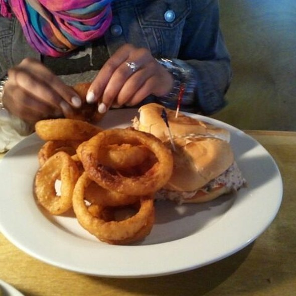 Tuna Melt w/ Onion Rings @ Northside Grille