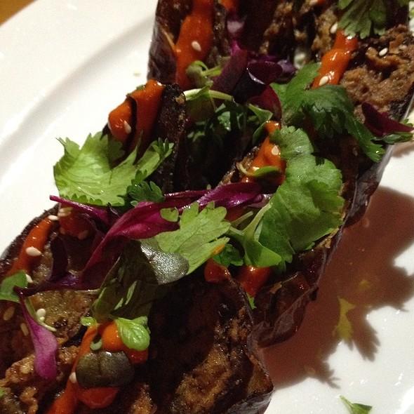 Eggplant With Calabrian Chili Honey Vinaigrette - Amali, New York, NY