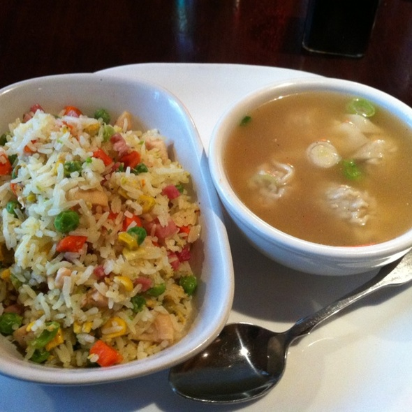 Fried Rice & Wonton Soup @ Cafe Des Arts The