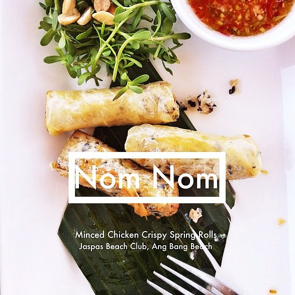 minced chicken spring rolls #nomnom indeed! crispy bites of goodness styling pics @ Jaspas Beach Club
