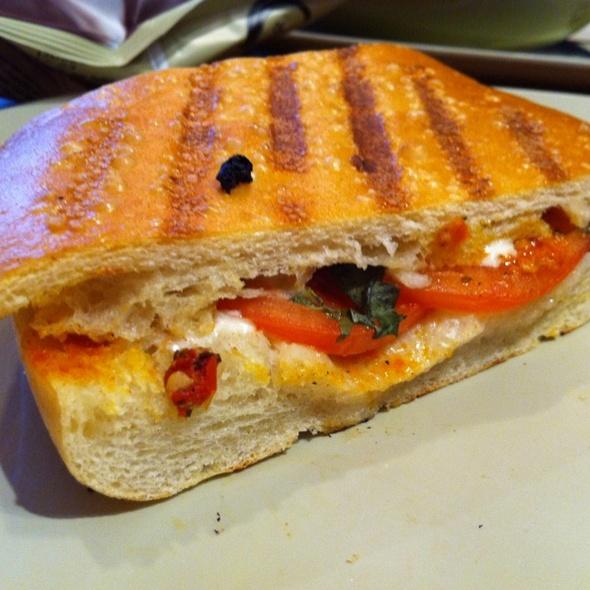 Tomato, Mozzarella, & Basil Panini at Panera Bread