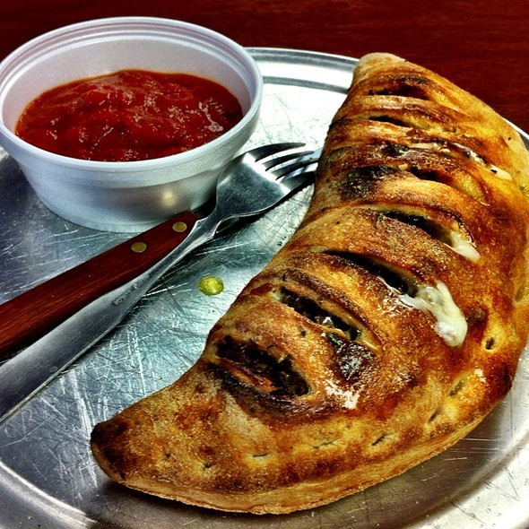 Steak And Cheese Calzone @ Santini's New York Style Deli