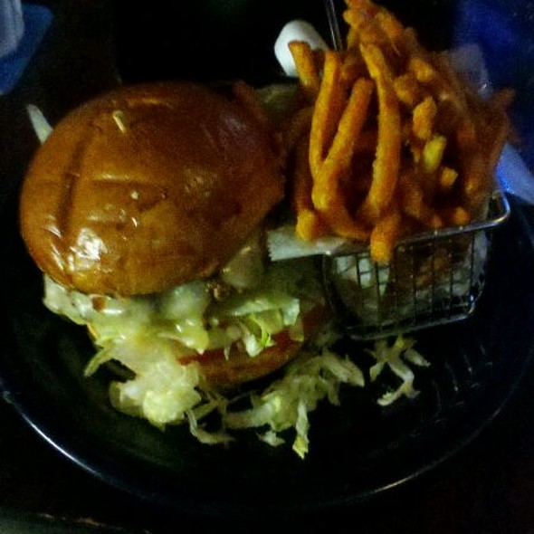 The Bison Burger W/ Sweet Potato Fries @ Bat 17