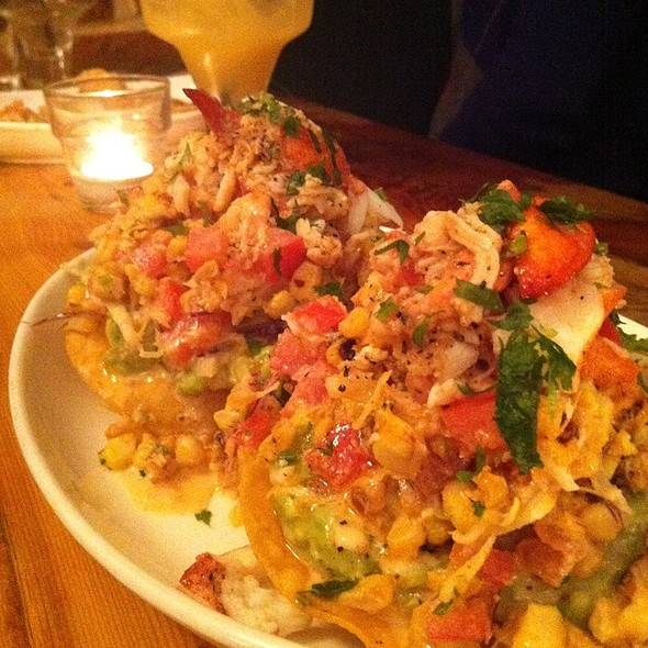 lobster tostada @ Playa Cabana
