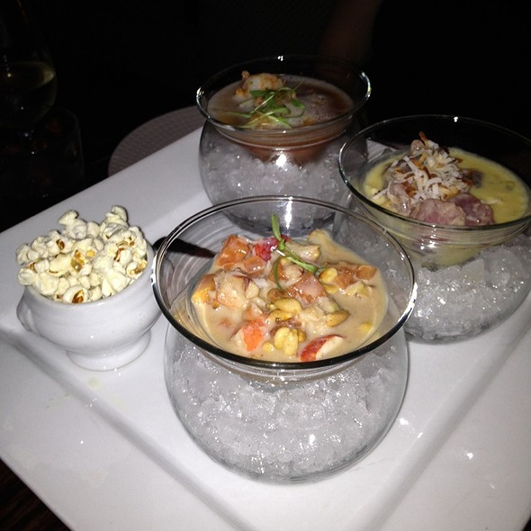 Ceviche Three Ways @ Stephan Pyles Restaurant
