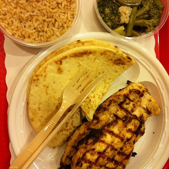 Grilled Chicken Cutlets With Brown Rice And Mixed Vegetables @ Chicken Shack