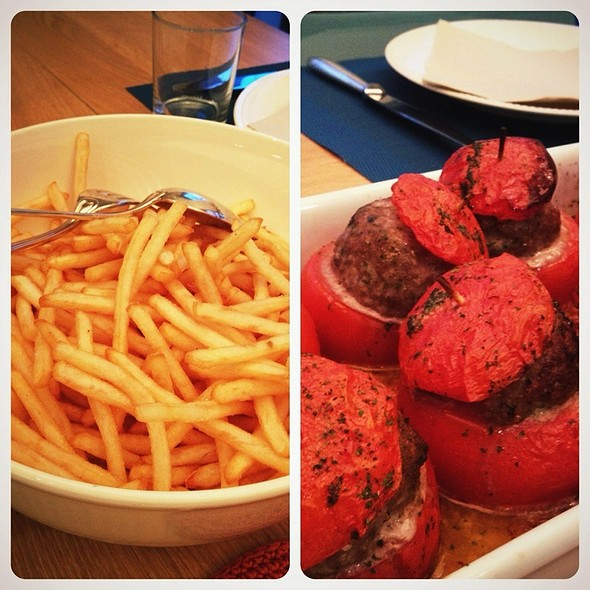 Tomates Farcies Et Frites @ Pelican