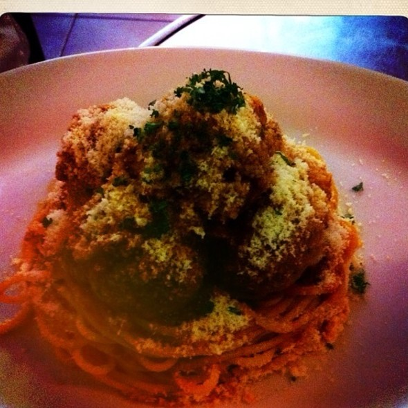 Meatballs On Pasta @ Charlie's Grind and Grill