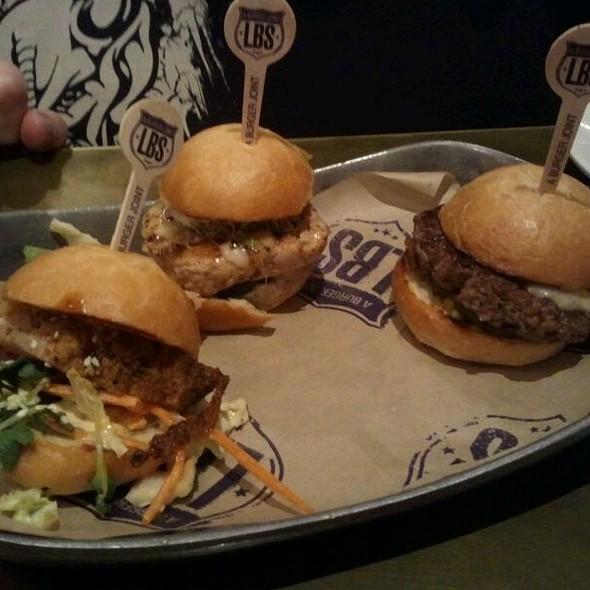 Slider Sampler Platter @ LBS Burger