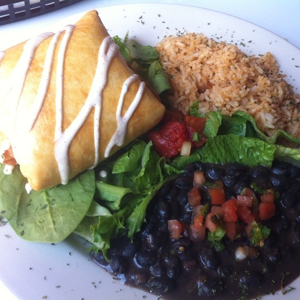 Chimichanga @ Cactus Flower Cafe