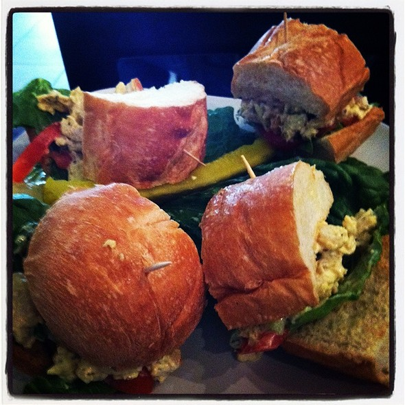 chicken salad sliders @ Roasted Cafe' & Lounge